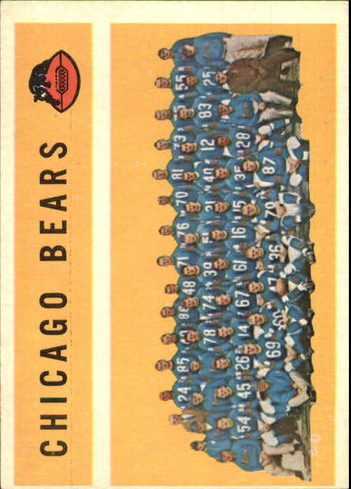 1960 Topps #21 Chicago Bears