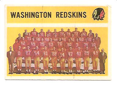 1960 Topps #132 Redskins Team