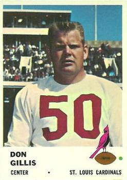 1961 Fleer #25 Don Gillis