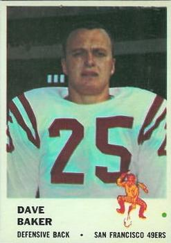 1961 Fleer #64 Dave Baker RC