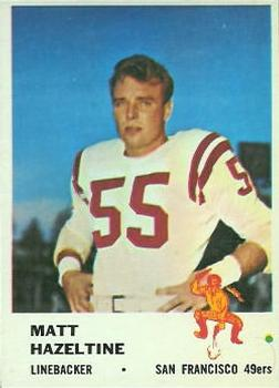 1961 Fleer #66 Matt Hazeltine