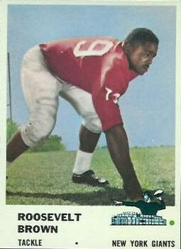 1961 Fleer #71 Roosevelt Brown
