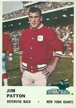 1961 Fleer #72 Jim Patton