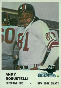 1961 Fleer #75 Andy Robustelli