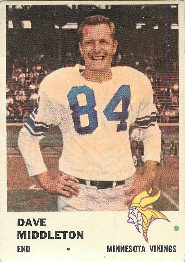 1961 Fleer #129 Dave Middleton