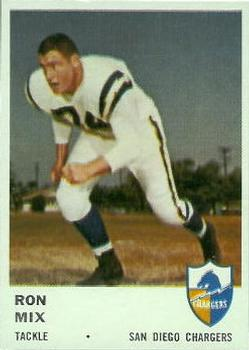 1961 Fleer #162 Ron Mix