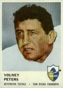 1961 Fleer #165 Volney Peters
