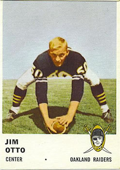 1961 Fleer #197 Jim Otto RC