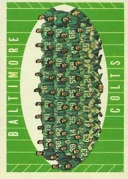 1961 Topps #9 Baltimore Colts