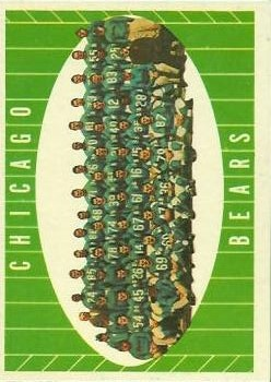 1961 Topps #18 Chicago Bears front image