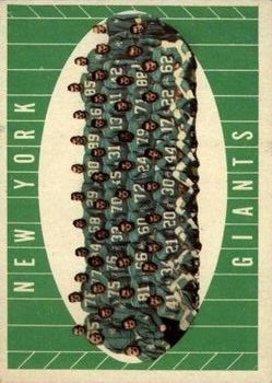 1961 Topps #93 New York Giants