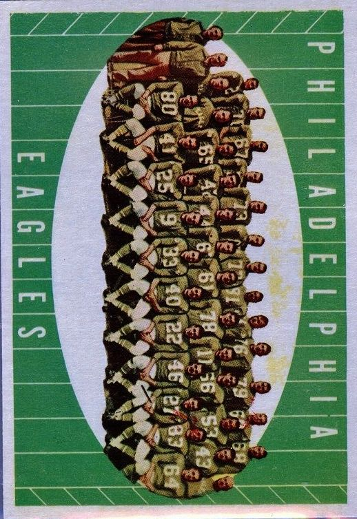 1961 Topps #103 Philadelphia Eagles