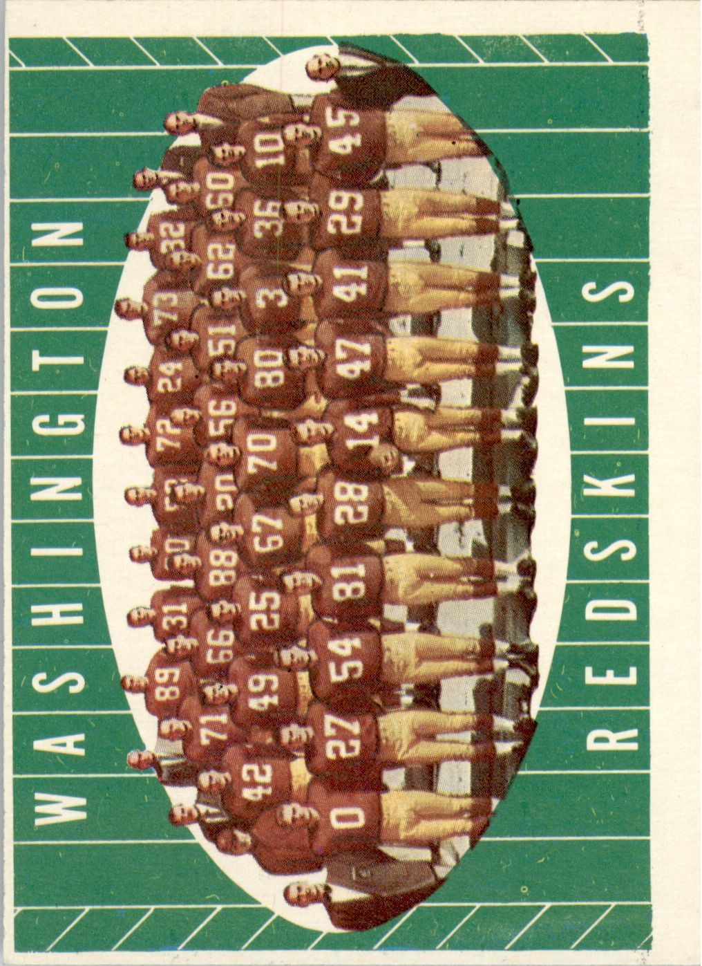 1961 Topps #131 Washington Redskins