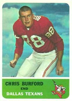 1962 Fleer #27 Chris Burford