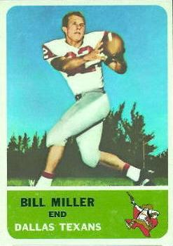 1962 Fleer #28 Bill Miller RC