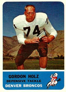 1962 Fleer #40 Gordy Holz