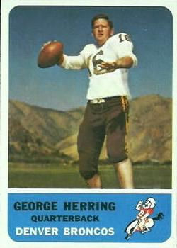 1962 Fleer #44 George Herring