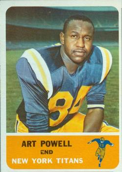 1962 Fleer #60 Art Powell