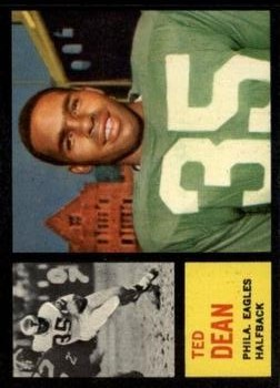 1962 Topps #117 Ted Dean SP