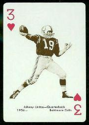 1963 Stancraft Playing Cards #3H Johnny Unitas