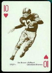 1963 Stancraft Playing Cards #10H Jim Brown