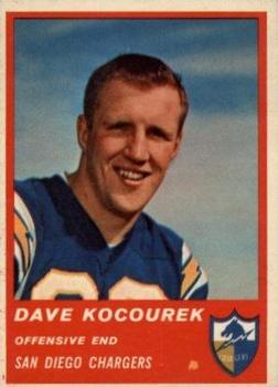 1963 Fleer #71 Dave Kocourek