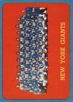 1963 Topps #60 New York Giants