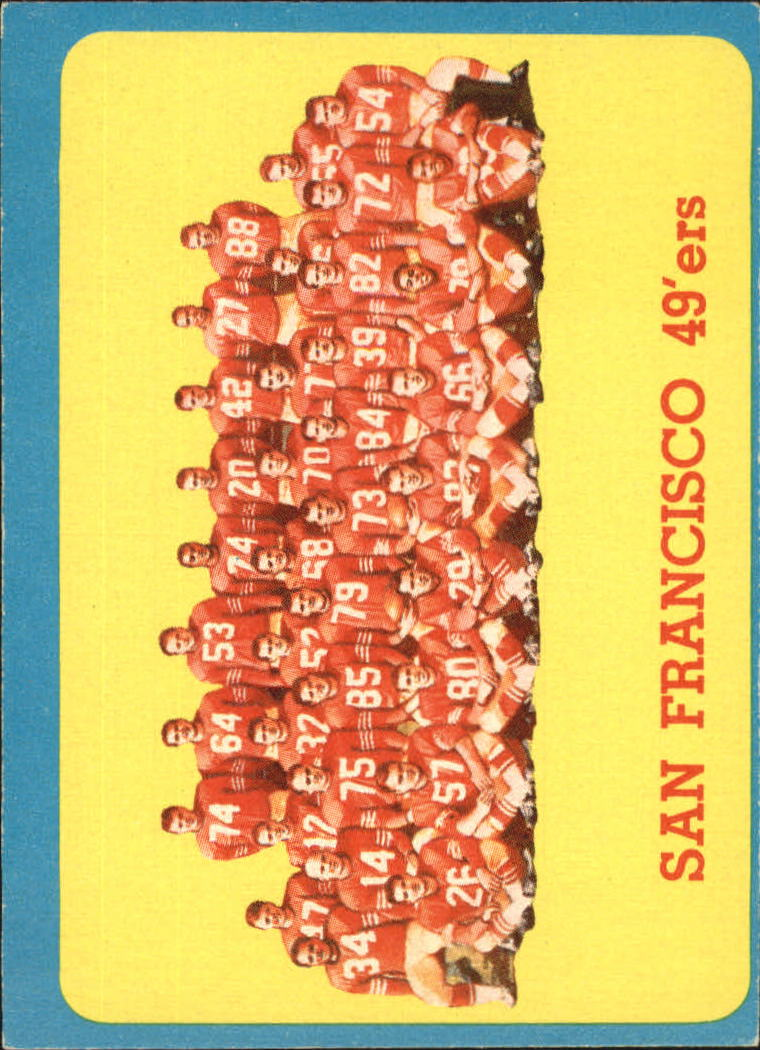 1963 Topps #145 San Francisco 49ers SP