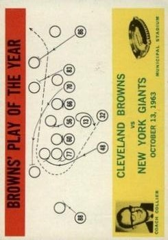 1964 Philadelphia #42 Cleveland Browns Play