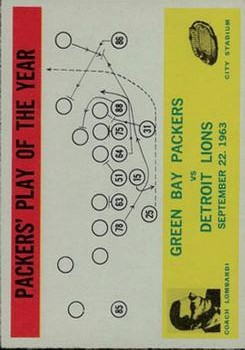 1964 Philadelphia #84 Packers Play/Lombardi