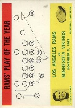 1964 Philadelphia #98 Los Angeles Rams Play