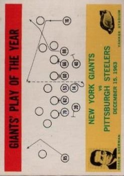 1964 Philadelphia #126 New York Giants Play