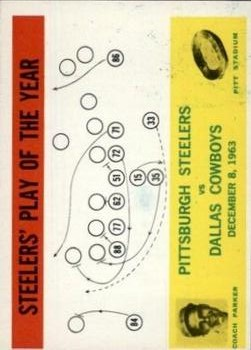 1964 Philadelphia #154 Pittsburgh Steelers Play