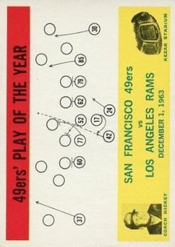 1964 Philadelphia #168 San Francisco 49ers Play