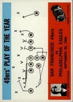 1965 Philadelphia #182 49ers Play/Christiansen