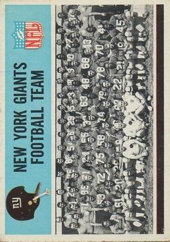 1966 Philadelphia #118 New York Giants Team