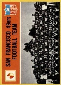 1967 Philadelphia #169 San Francisco 49ers