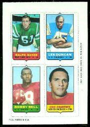 1969 Topps Four-in-One Inserts #5 Baker/Duncan/Crabtree/Bell