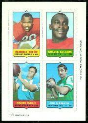 1969 Topps Four-in-One Inserts #15 Dixon/Sellers/Namath/Twilley