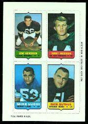 1969 Topps Four-in-One Inserts #21 Hickerson/D.Anderson/Butkus/Lucci