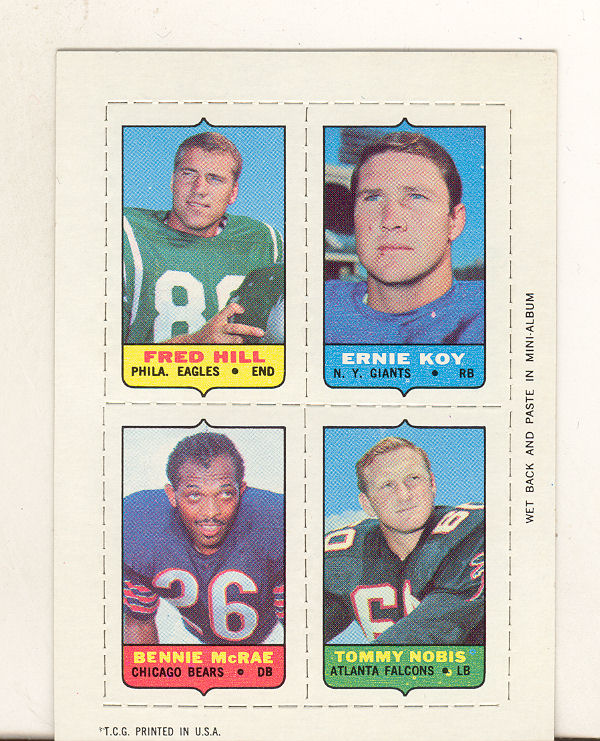 1969 Topps Four-in-One Inserts #22 F.Hill/Koy/Nobis/McRae
