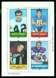 1969 Topps Four-in-One Inserts #23 Hoak/Gabriel/Sharockman/Williams