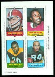 1969 Topps Four-in-One Inserts #24 Houston/Shivers/Dale/Asbury