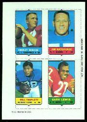 1969 Topps Four-in-One Inserts #27 C.Johnson R/Katcav/G.Lewis/Triplett W