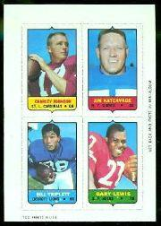 1969 Topps Four-in-One Inserts #28 C.Johnson W/Katcav/G.Lewis/Triplett R
