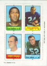 1969 Topps Four-in-One Inserts #29 W.Johnson/Frederickson/Lloyd/Walden
