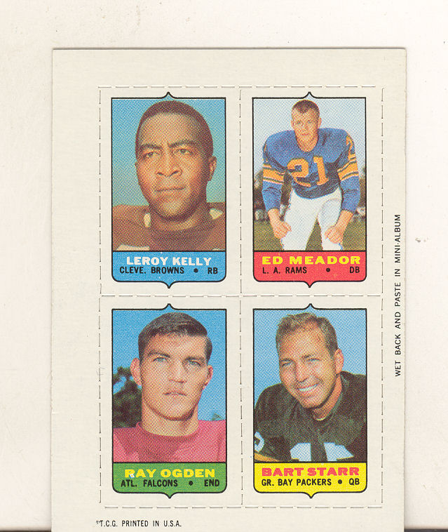 1969 Topps Four-in-One Inserts #31 Kelly/Meador/Starr/Ogden