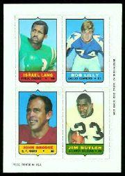 1969 Topps Four-in-One Inserts #34 Lang/Lilly/Butler/Brodie