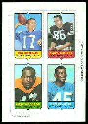 1969 Topps Four-in-One Inserts #38 Meredith/G.Collins/H.Jones/Woodson