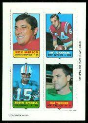 1969 Topps Four-in-One Inserts #39 Mirich/Graham/Turner/Stofa